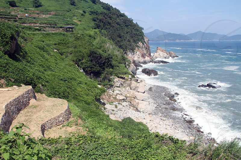 Namhae County in South Gyeongsang Province South Korea. Travel destination. photo