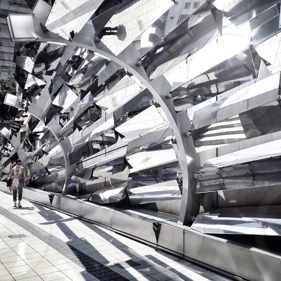 metal geometric sculpture photo