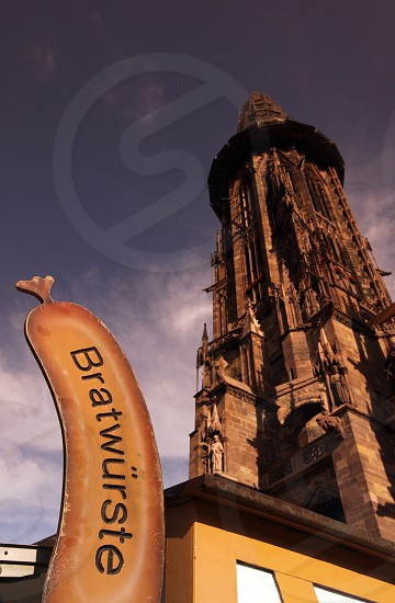 the muenster church in the old town of Freiburg im Breisgau in the Blackforest in the south of Germany in Europe. photo