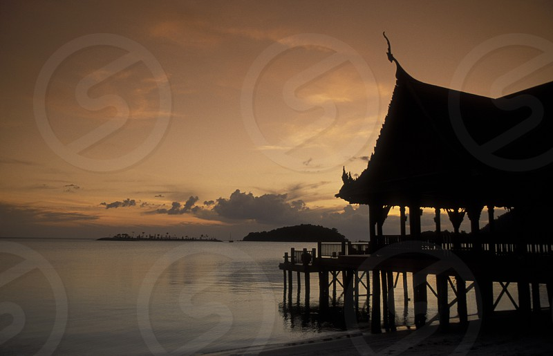 The Beach at Pantai Cenang on the coast of Langkawi Island in the northwest of Malaysia photo