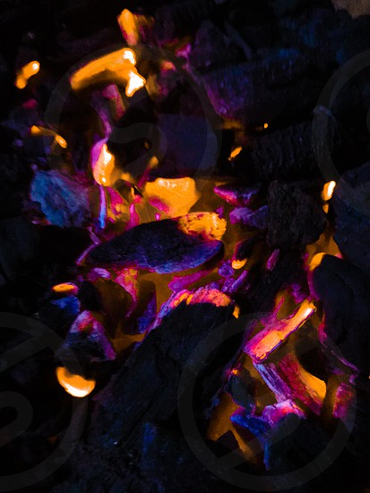 Ultraviolet burning fire color of the year  photo