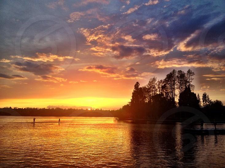 Greenlake sunset photo