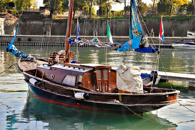 Yacht Moored at Desenzano del Garda photo