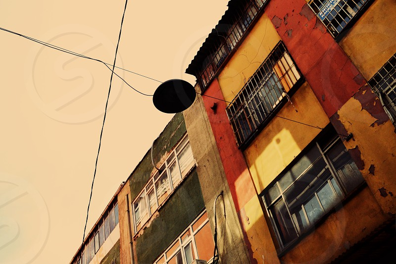 Colored facades Istanbul Streetlight photo