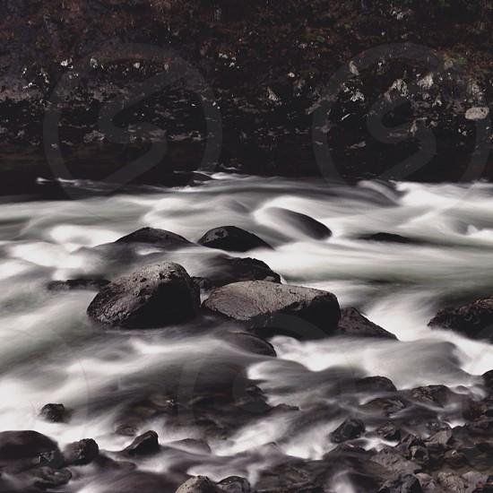 Ocean water rocks photo
