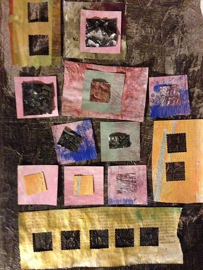 Squares on squares. Squares in squares. Squares in a row. photo