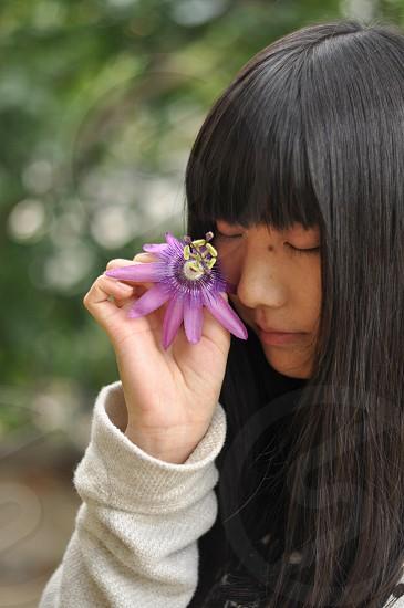 花・女の子 photo