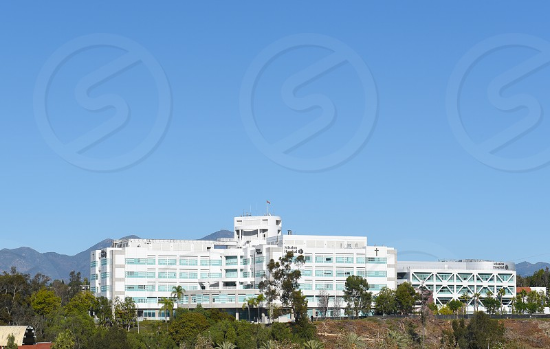 Mission Hospital Mission Viejo California. A 552-bed acute care full-service facility serving all of south Orange County and houses the region's designated trauma center photo