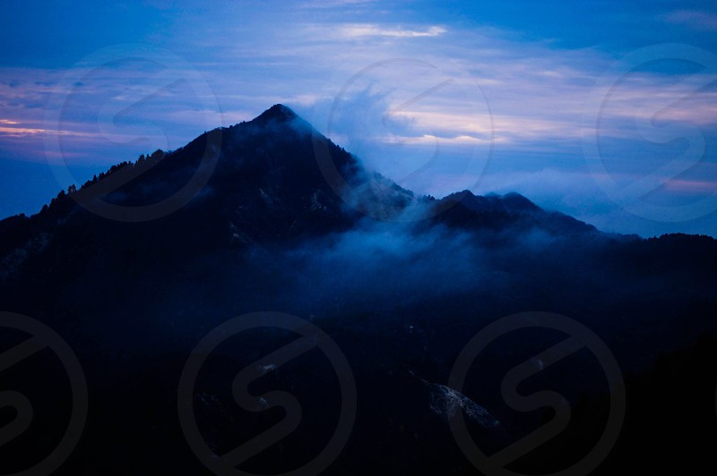 silhouette of mountain photo