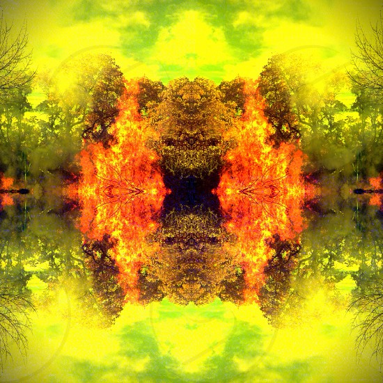 Abstract reflection photo