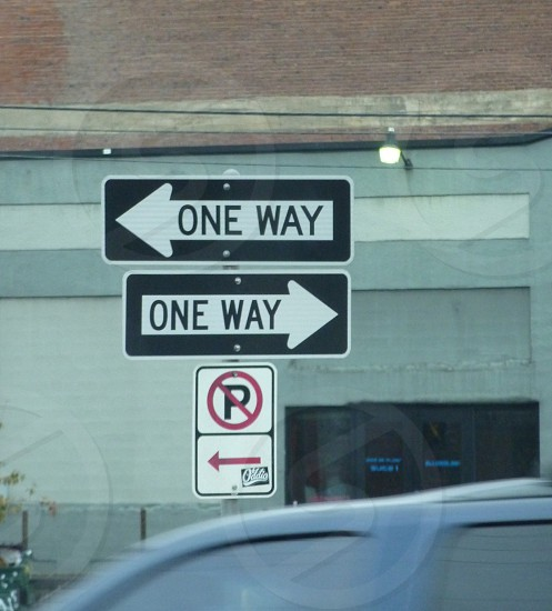 one way - which way? photo