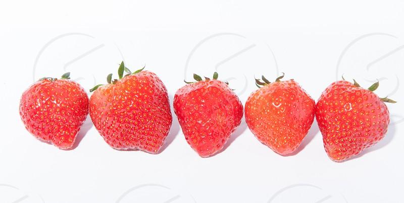 red strawberries photo