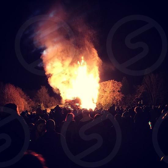 Bonfires before fireworks. photo