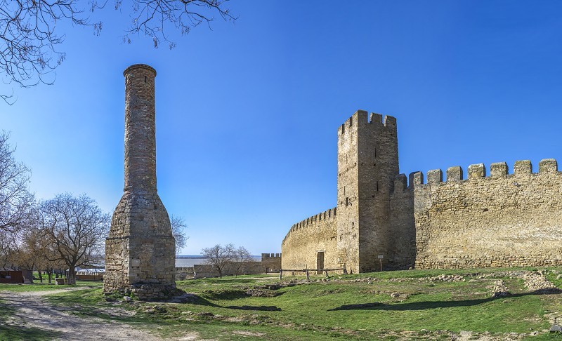 Akkerman Ukraine - 03.23.2019. Panoramic view of the Fortress walls and towers from the inside of the Akkerman Citadel a historical and architectural monument photo