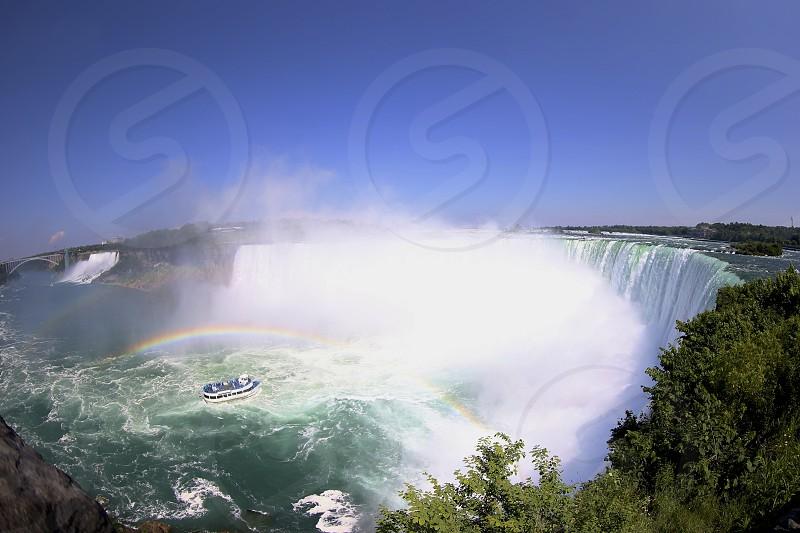 Niagara Falls Double Rainbow  photo