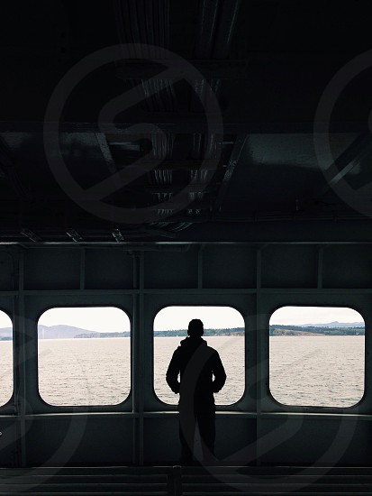 man in ship silhouette photography photo