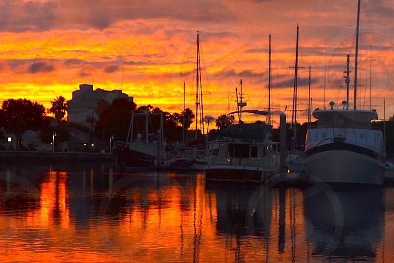 Sunset over Davis Islands FL photo