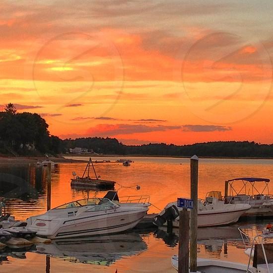 A Gulf Coast sunset near Crystal River Florida. August 2013. photo
