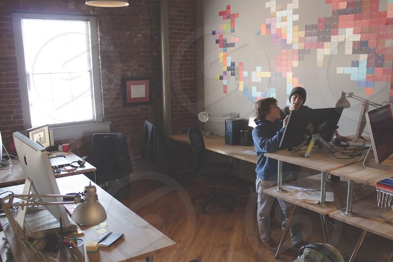 office full of desks photo