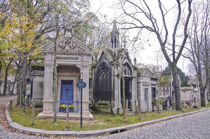 Pere-Lachaise cemetery in Paris France photo