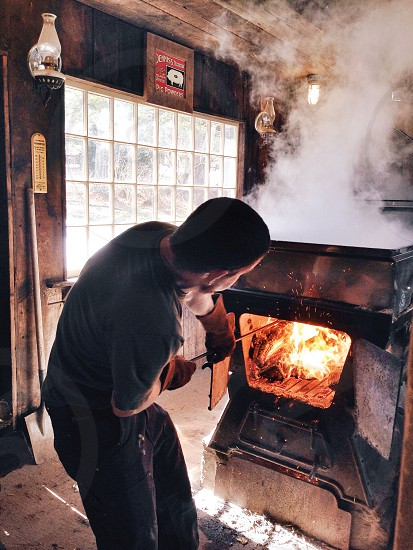 Making Maple Syrup in the Sugar Shack photo
