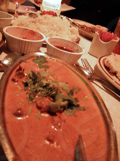 Indian dinner photo