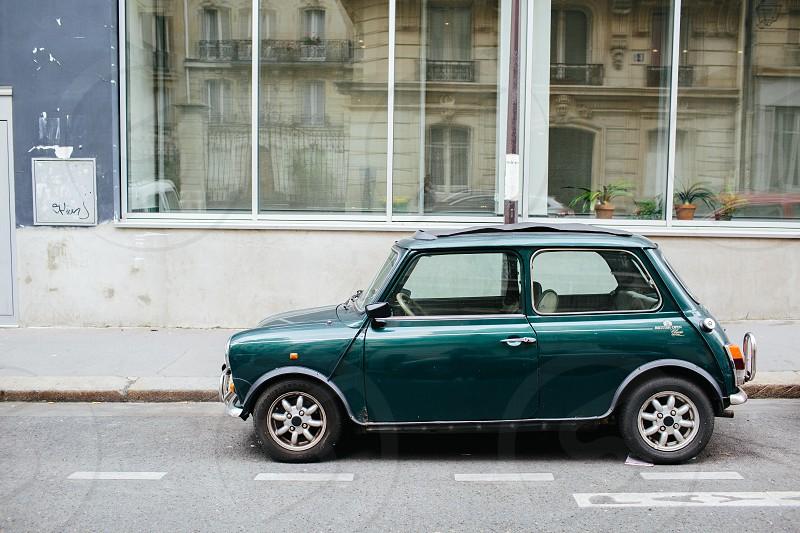 Vintage Mini Cooper in Paris  photo