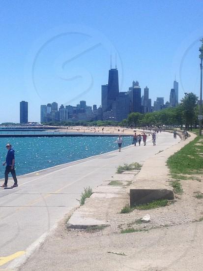 Chicago Skyline from Lake Michigan photo