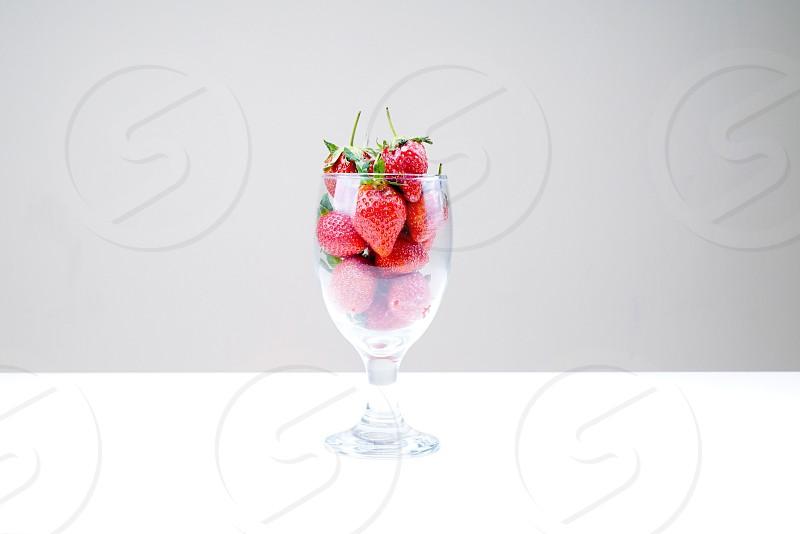 Fruit straberry glass photo