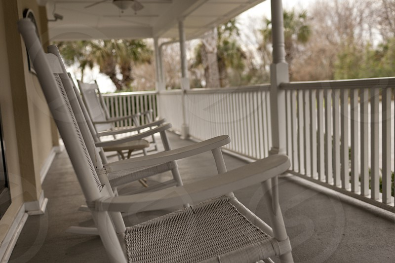 Rocking chairs front poarch photo