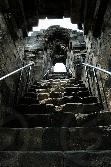 Borobudur Temple - the famous and biggest buddhist temple in Indonesia and world. photo