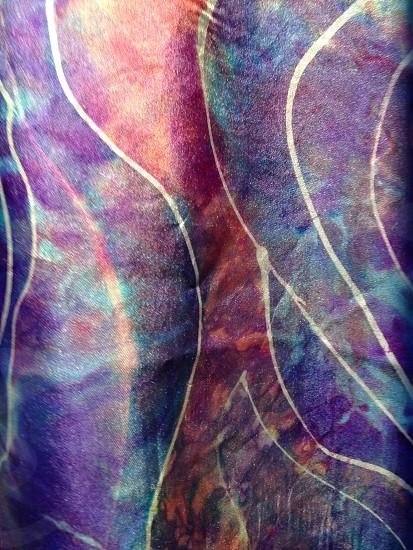 Colors rainbow silk fabric art silk painting  photo