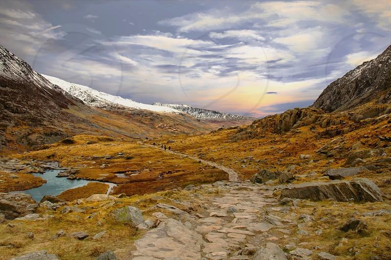 Mountain Snowdonia Wales uk photo