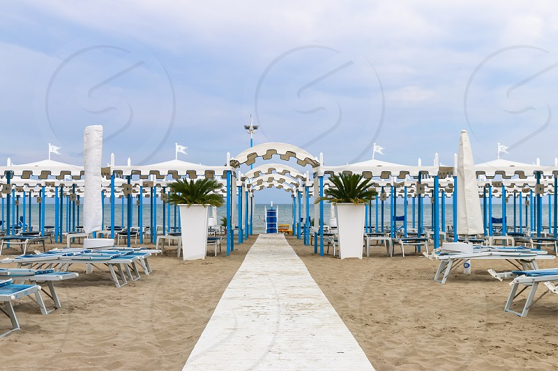 Empty beach Italy Riccione photo