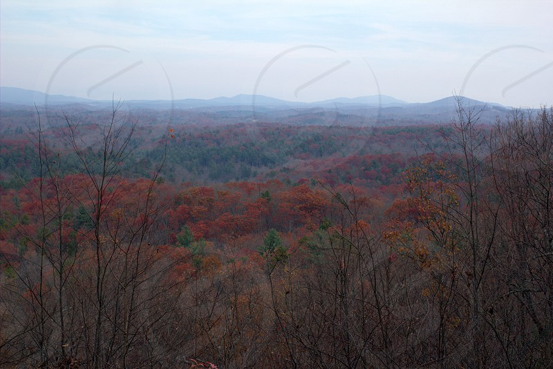 blue ridge mountains in fall from fairy stone state park photo