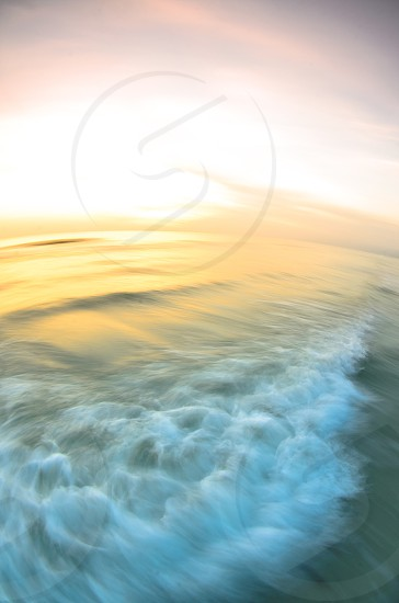 The surf at a Florida beach.  Deliberate motion blur. photo