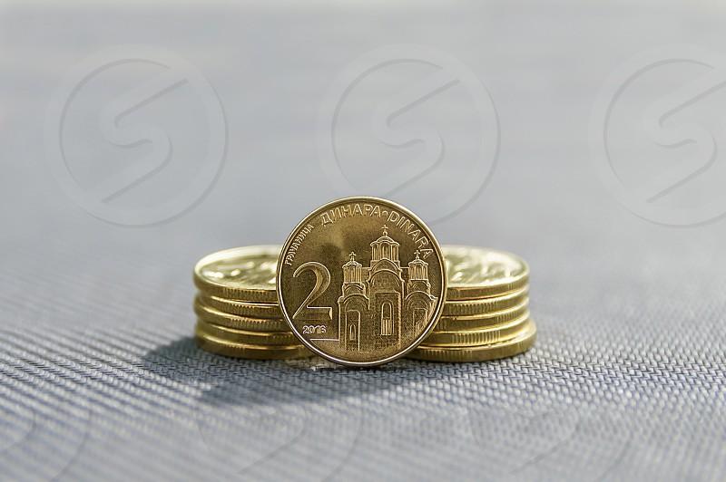 Serbian coins dinar 2 dinars photo