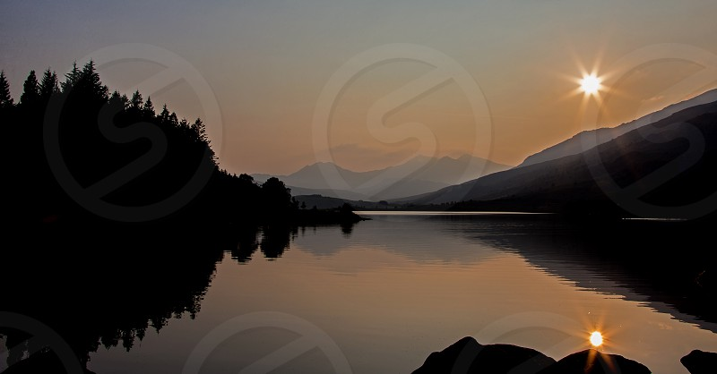 Snowdonia National Park Landscape Panorama photo
