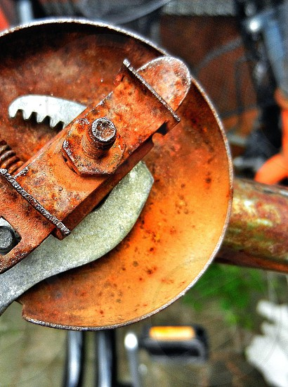 brown rusted plate tool photo