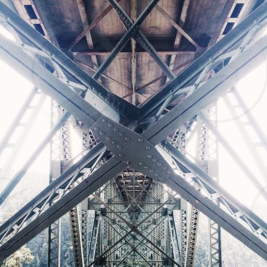grey steel frame photo