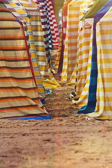 striped tents photo