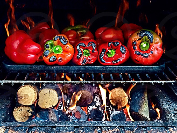 roasted peppers photo