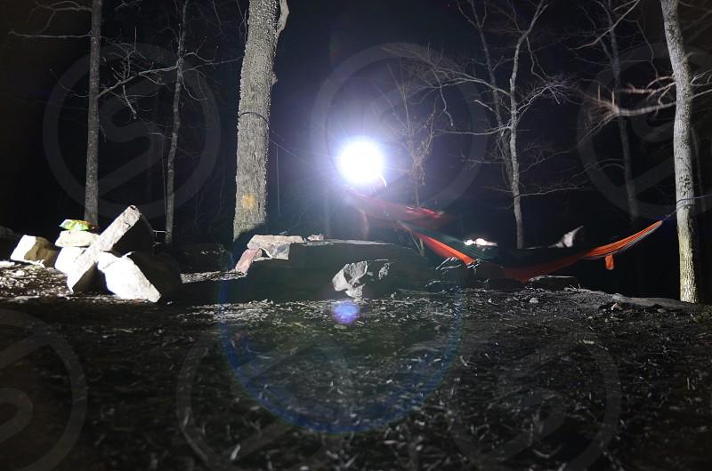 Midnight campsite  photo