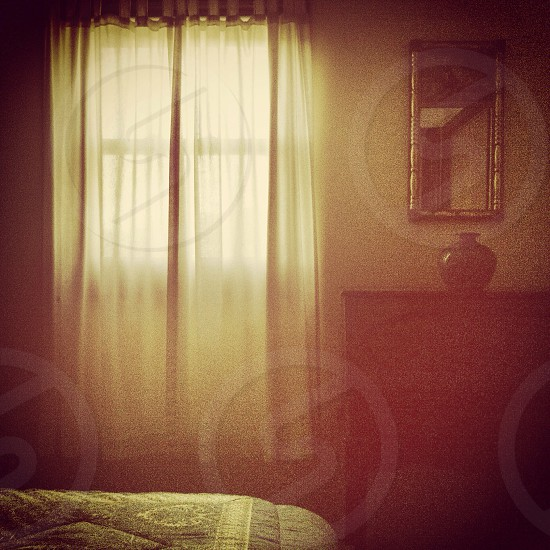 Portrait of an room according to sepia memories  photo