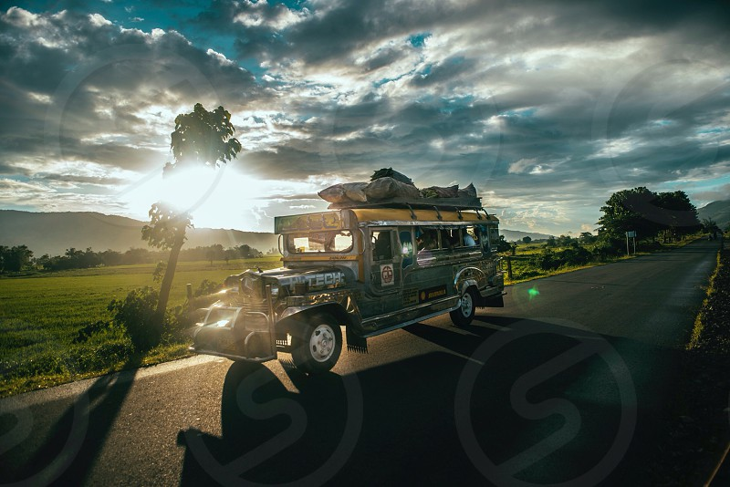 jeep on road  photo