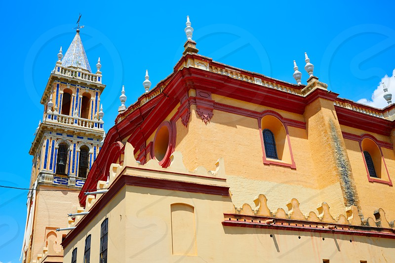 Triana barrio in Seville Santa Ana church andalusia Spain Sevilla photo
