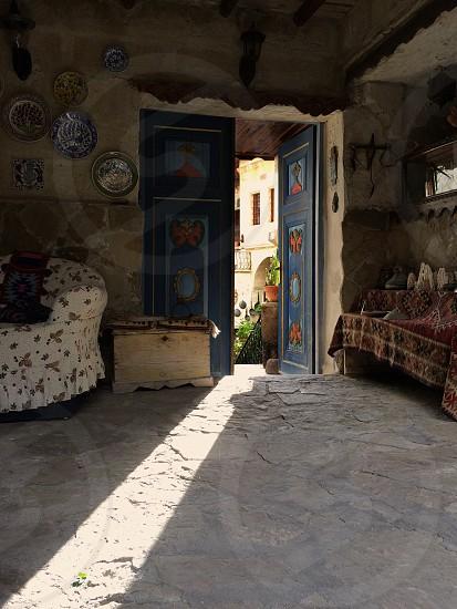 Ornate door in Cappadocia Turkey photo