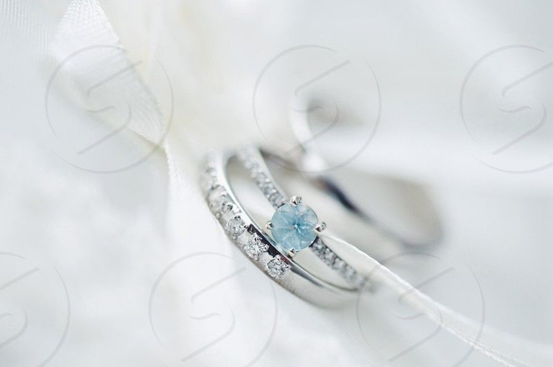 diamond studded and embellished silver rings photo