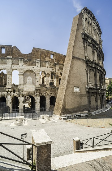 The Colosseum in Rome. Frontal view photo