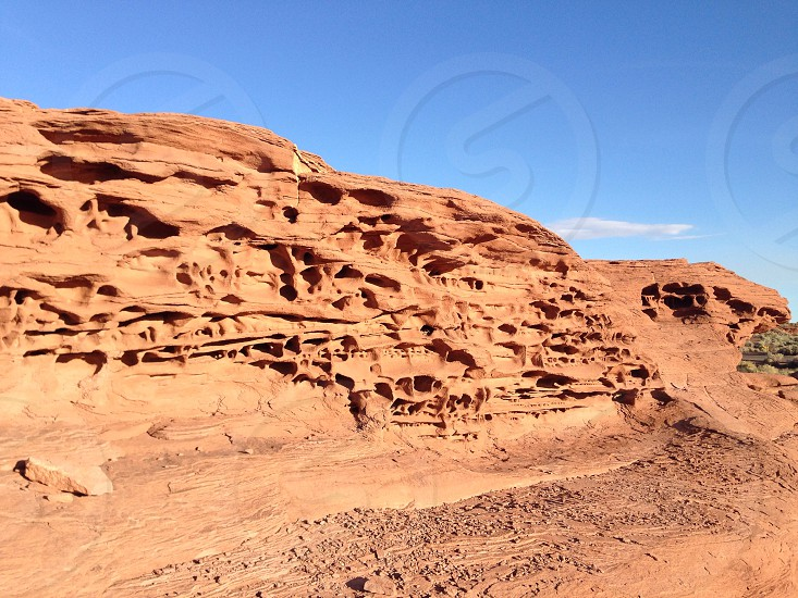 Holes in sandstone  photo